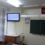 Крепление телевизора на стену в школьном классе. Благовещенск