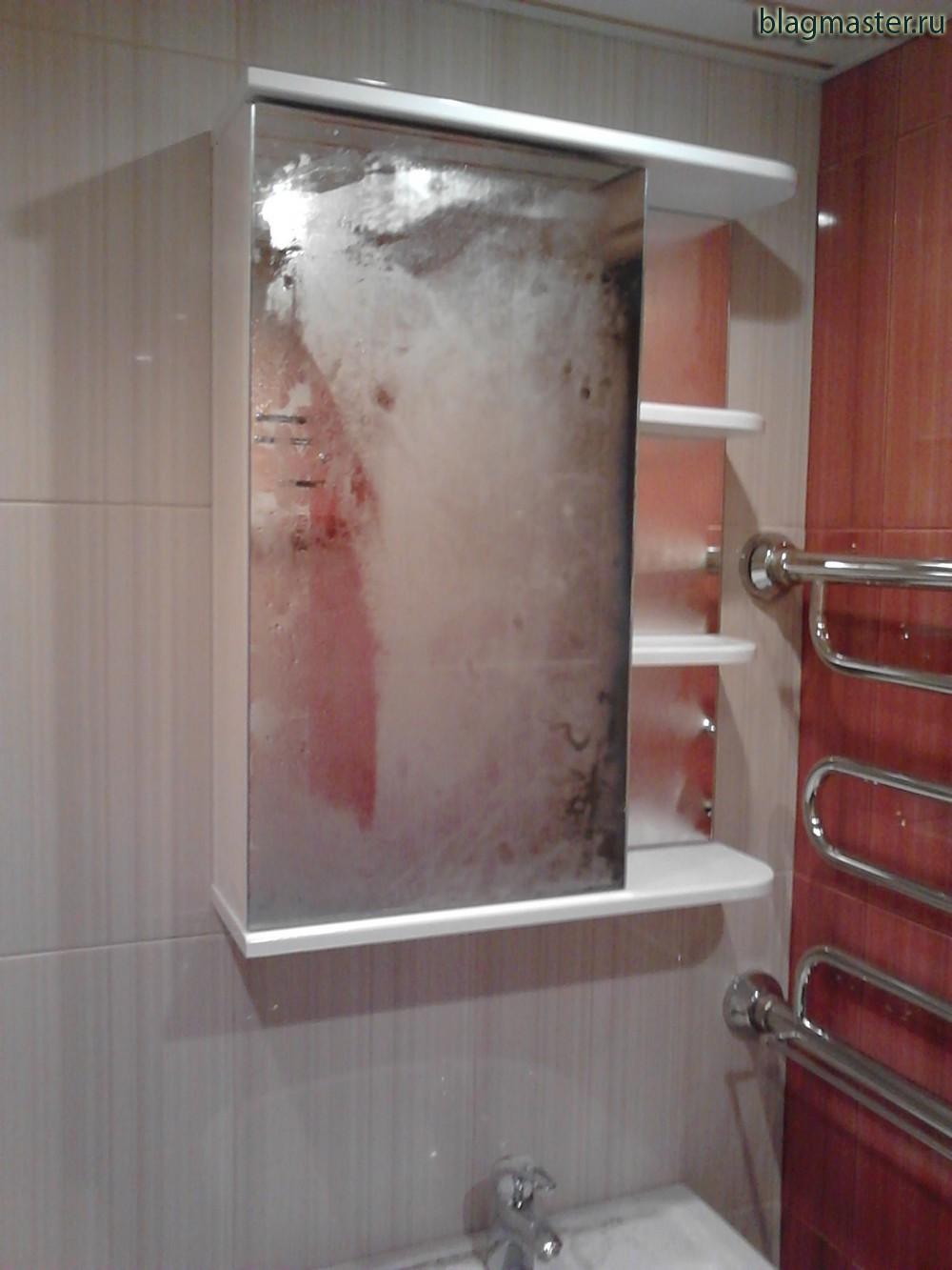 Крепление зеркала в ванной