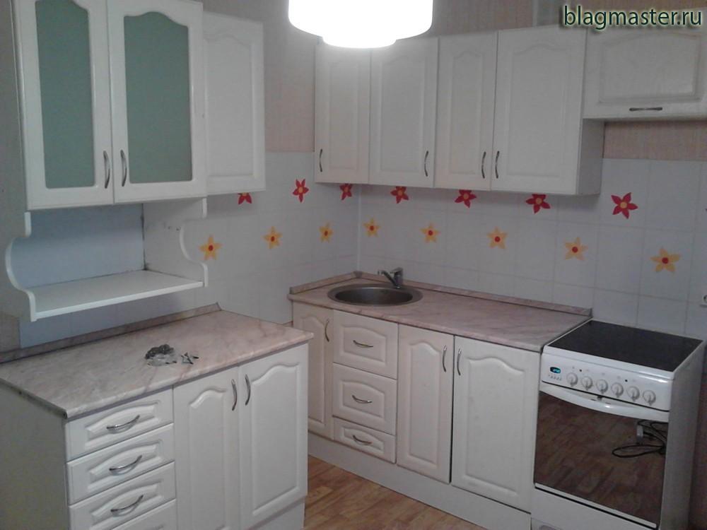 Крепление кухонных шкафов, установка мойки