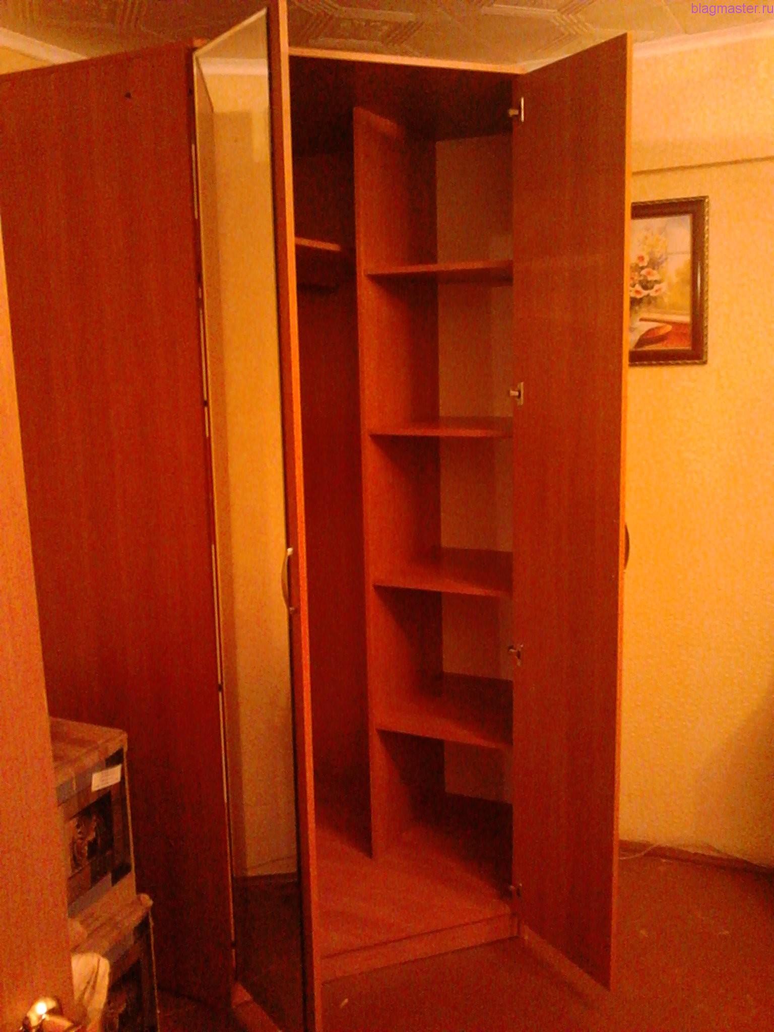 Сборка углового шкафа