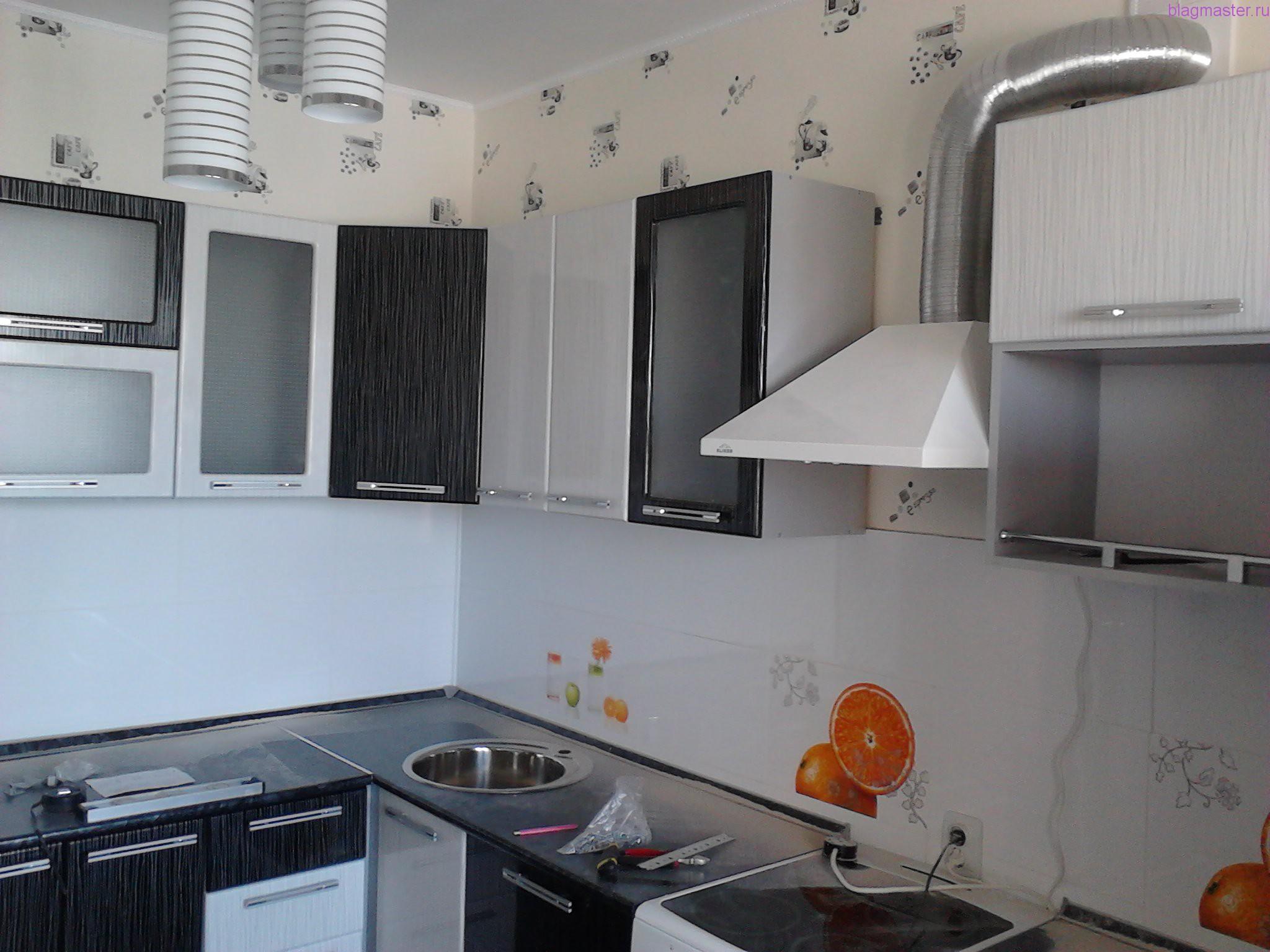 Установка и крепление кухонного гарнитура
